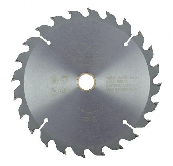 Пильный диск Keos по дереву для быстрого продольного и поперечного реза древесины мягких и твердых пород