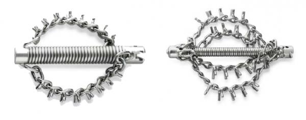 Цепные насадки с шипами без кольца ROTHENBERGER (с 2 и 4 цепями)